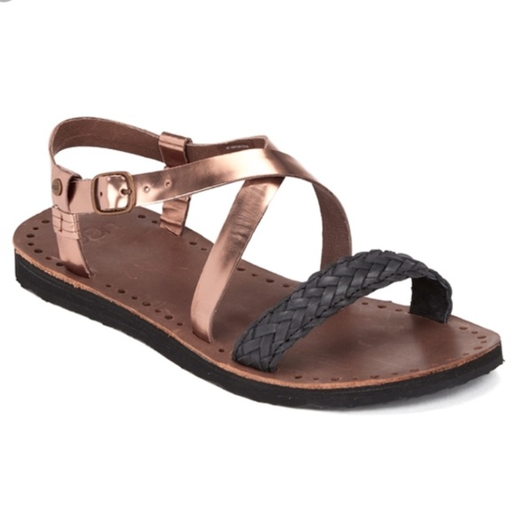 c2ba5c7ead6 UGG Jordyne Women's Leather Sandals in Rose Gold NWT